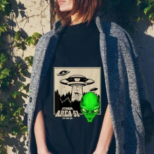 Storm area 51 Ufo And Alien Face tank top