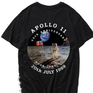 The best trend Astronaut Apollo 11 50th Anniversary Moon Landing American Flag 20th July 1969 shirt