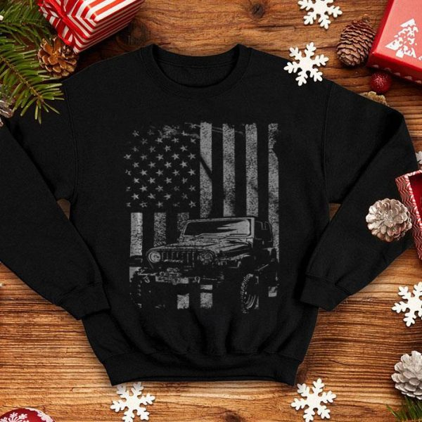 Vintage Us Flag Jeeps - Jeeps Enthusiast shirt