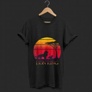 Wonderful Disney Lion King Vintage Sunset Mufasa And Simba shirt