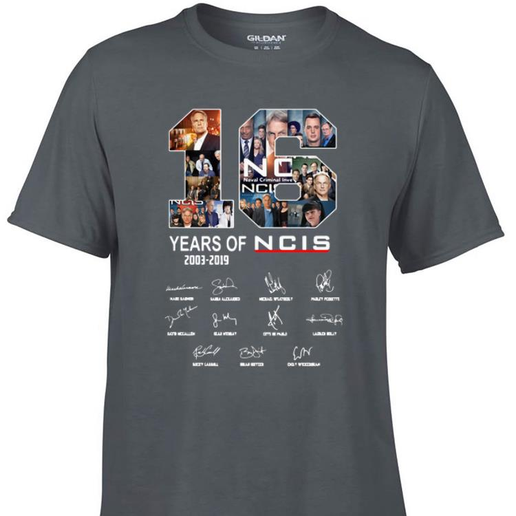 Awesome 16 Years Of NCIS Signature shirt 1 - Awesome 16 Years Of NCIS Signature shirt