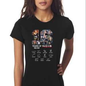 Awesome 16 Years Of NCIS Signature shirt 2