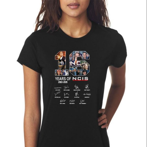 Awesome 16 Years Of NCIS Signature shirt