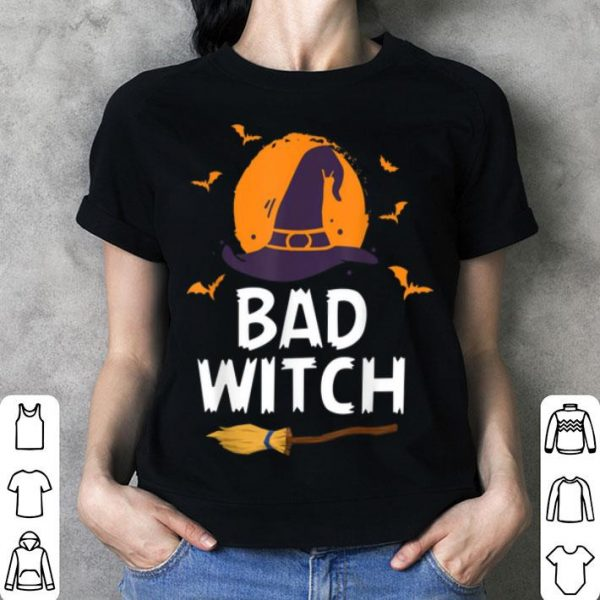 Awesome Bad Witch Broomstick Bats Hat For Halloween shirt