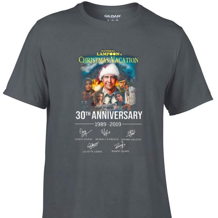 Awesome Christmas Vacation 30th Anniversary 1989 2019 Signature shirt 1 - Awesome Christmas Vacation 30th Anniversary 1989 2019 Signature shirt