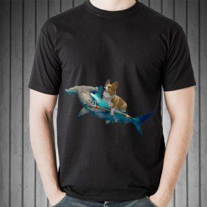 Awesome Corgi Riding a Hammerhead shark shirt
