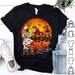 Awesome Dachshund Dog Witch Demon Mummy Halloween Horror Costume shirt