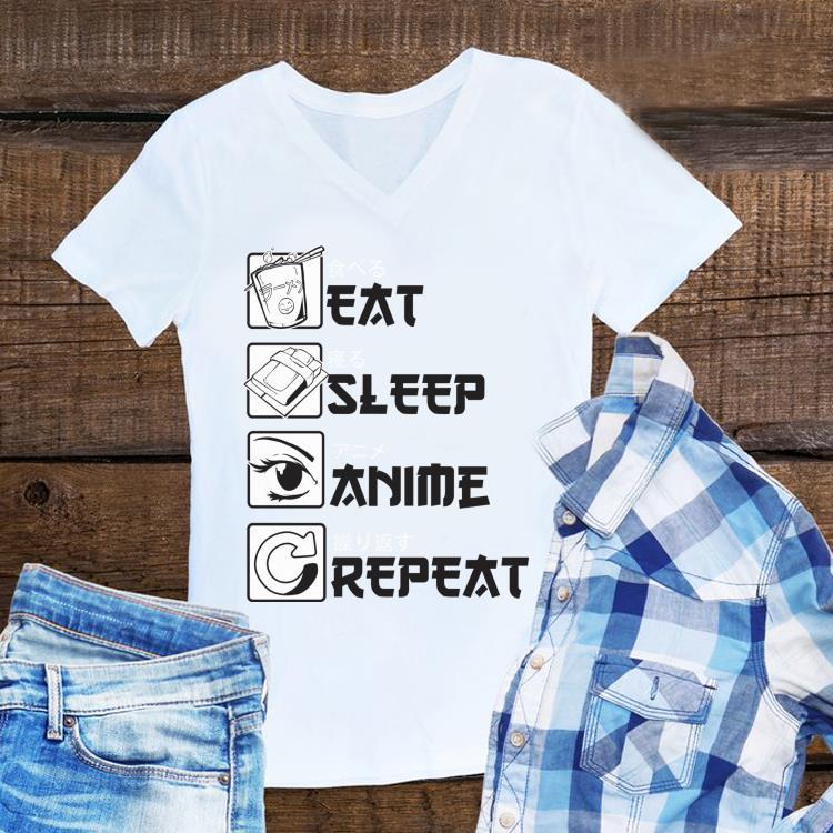Awesome Eat Sleep Anime Repeat shirt 1 - Awesome Eat Sleep Anime Repeat shirt