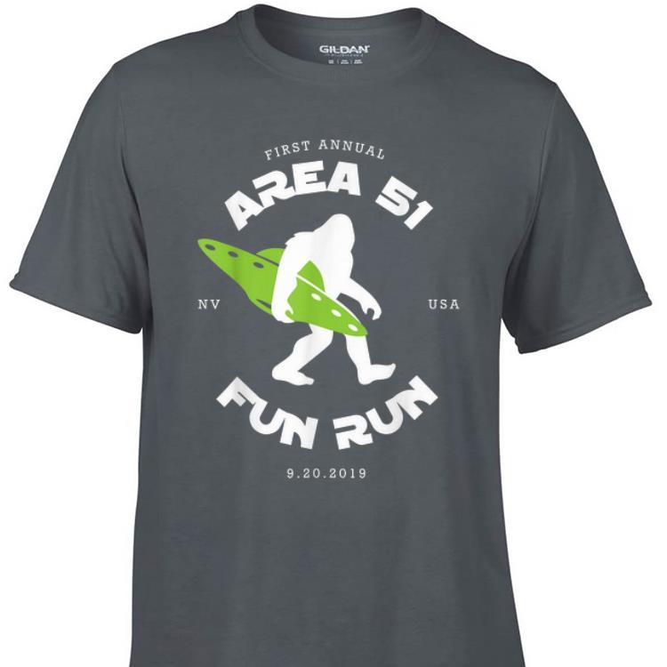 Awesome First Annual Area 51 Fun Run Bigfoot Ufo shirt 1 - Awesome First Annual Area 51 Fun Run Bigfoot Ufo shirt