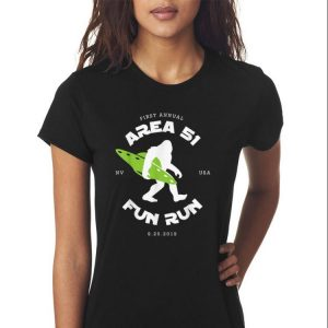 Awesome First Annual Area 51 Fun Run Bigfoot Ufo shirt 2