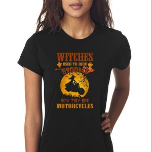 Awesome Halloween Witches Used to Ride Brooms now They Ride Motorcycles shirt 2