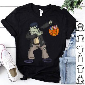 Awesome Happy Daboween Frankenstein Halloween Dabbing Trick shirt