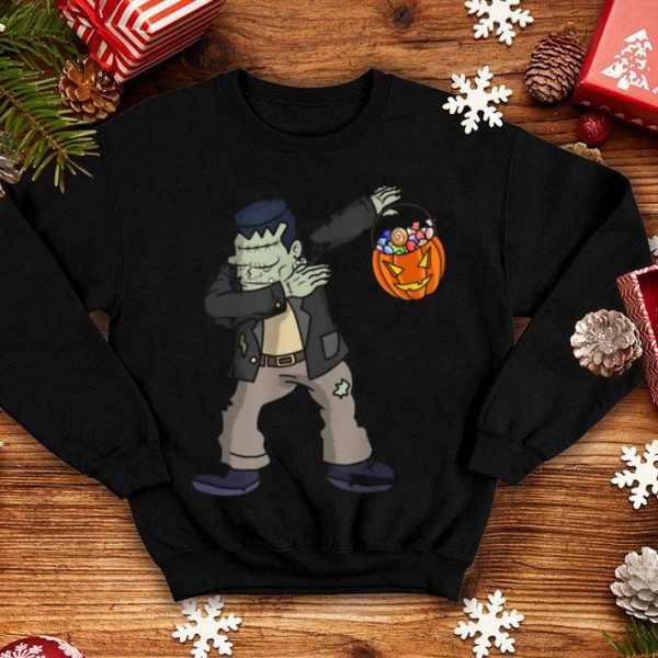 Awesome Happy Daboween Frankenstein Halloween Dabbing Trick shirt