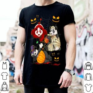 Awesome Panda Happy Halloween Cute Mummy Witch Pumpkin shirt