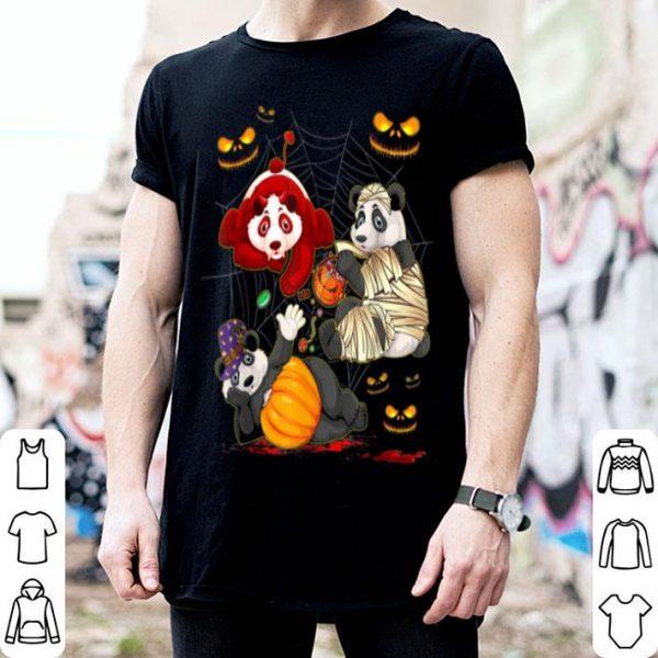 Awesome Panda Happy Halloween Cute Mummy Witch Pumpkin shirt