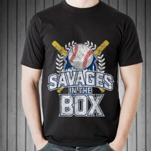 Awesome Savages In The Box Baseball shirt