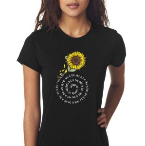 Awesome Whisper word of wisdom let it be Sunflower shirt 2