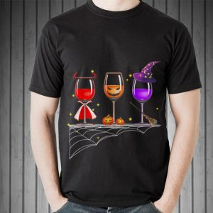 Awesome Wine Glass Of Witchcraft Halloween shirt