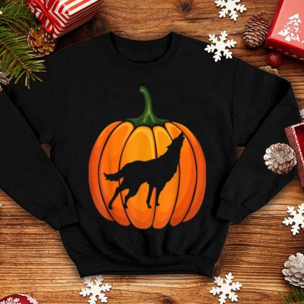 Awesome Wotf Pumpkin Halloween T-shirt Animal Lover Gifts shirt