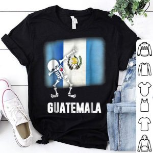 Beautiful Dabbing Skeleton Guatemala Flag Halloween shirt