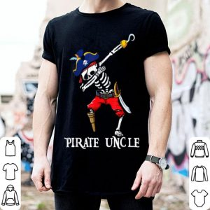 Beautiful Dabbing Skeleton Pirate Uncle Halloween Costume Gift shirt