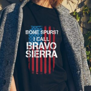 Bone Spurs I Call Bravo Sierra American Flag sweater
