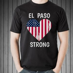 El Paso Strong American Flag Heart sweater