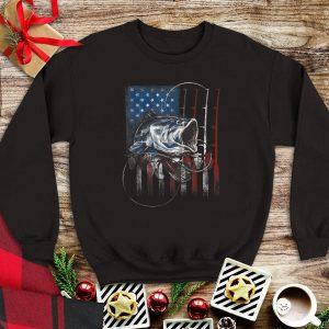 Fishing American Flag sweater
