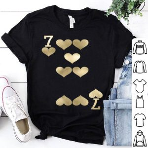 Funny 7 Of Hearts - Playing Card Halloween Costume shirt