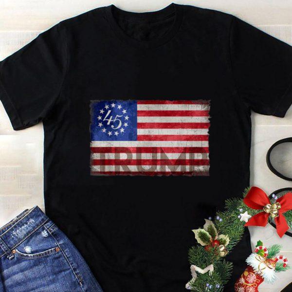 Funny Betsy Ross Flag Donald Trump 2020 shirt