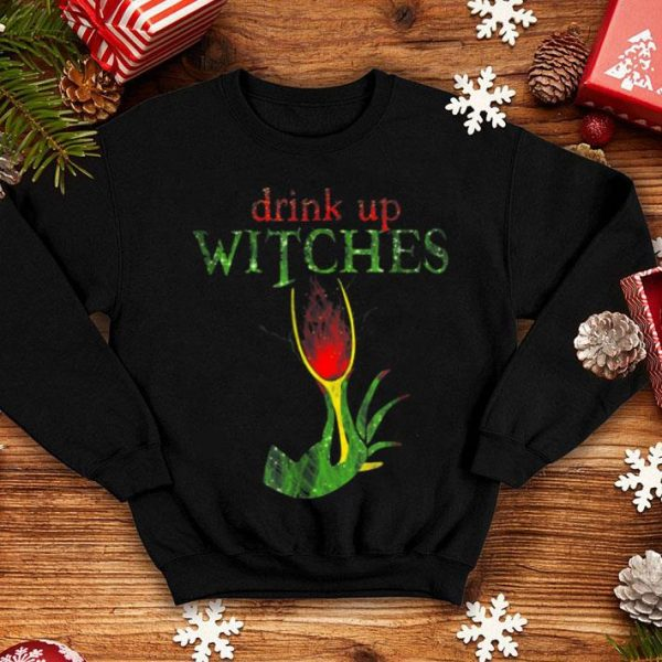Funny Drink Up Witches Funny Halloween Wine Party shirt