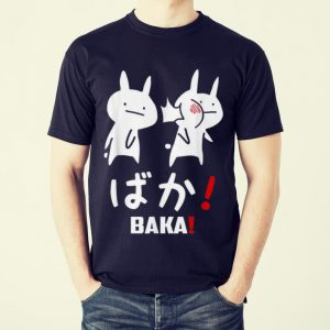 Funny Kawaii Neko Baka Japanese Word shirt 1