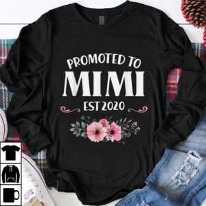 Funny Promoted to Mimi Est 2020 Floral shirt