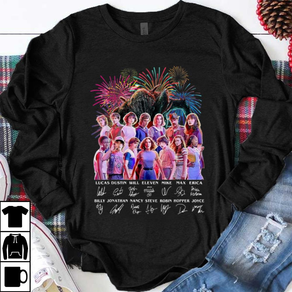 Funny Thank You For The Memories Stranger Things Firework Signature shirt 1 - Funny Thank You For The Memories Stranger Things Firework Signature shirt