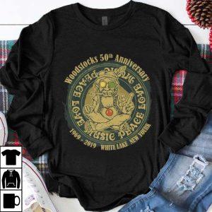 Funny Woodstocks 50th Anniversary Peace Love Music 1969 2019 White Lake New York shirt