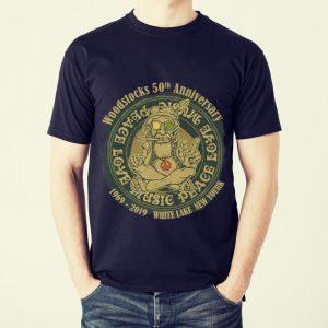 Funny Woodstocks 50th Anniversary Peace Love Music 1969 2019 White Lake New York shirt 1