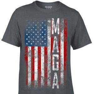 Grunge MAGA American Flag sweater