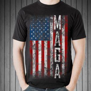 Grunge MAGA American Flag sweater
