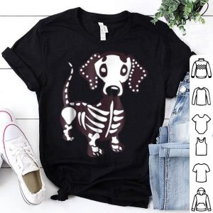 Nice Dachshund Skeleton Skull Funny Halloween Costume Gift shirt