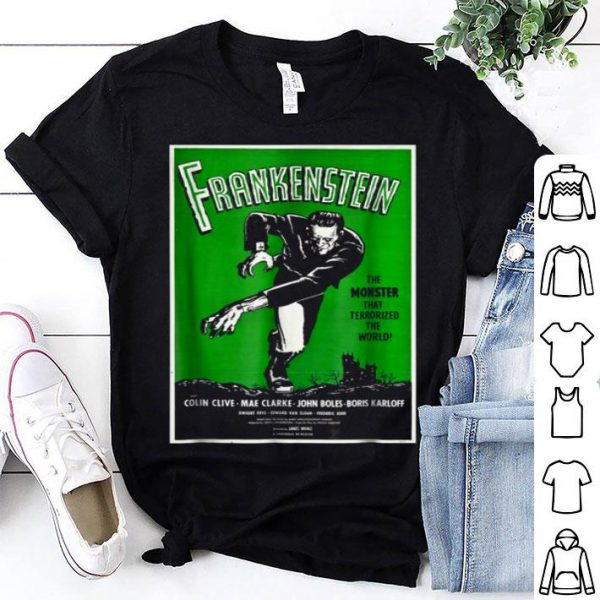 Nice Frankenstein Monster Vintage Movie Poster Halloween shirt