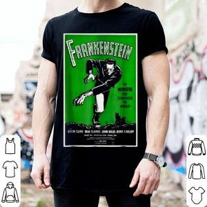 Nice Frankenstein Monster Vintage Movie Poster Halloween shirt