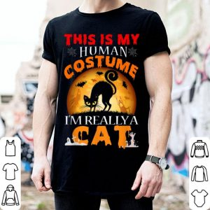 Nice This Is My Human Costume I'm Really A Cat Halloween Costume shirt
