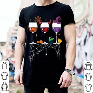 Original Glasses Of Wine Halloween Costume Pumpkin Witch shirt