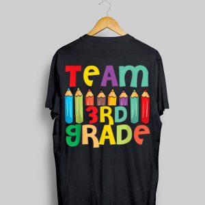Pencils 3rd Grade Heart First Day Of Shool Teacher Student shirt
