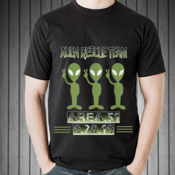 Top Alien Rescue Team Area 51 guy tee