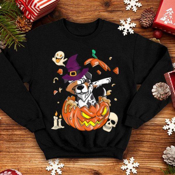Australian Shepherd Dog Pumpkin Halloween Gifts shirt