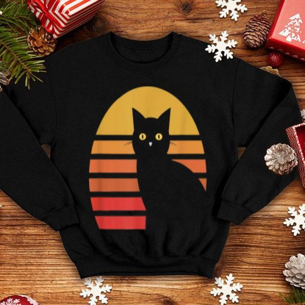 Awesome Black Cat Vintage Sun Halloween Gift shirt