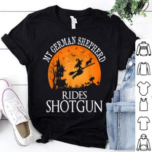 Awesome German Shepherd Rides Shotgun Dog Lover Halloween Party shirt