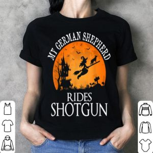 Awesome German Shepherd Rides Shotgun Dog Lover Halloween Party shirt