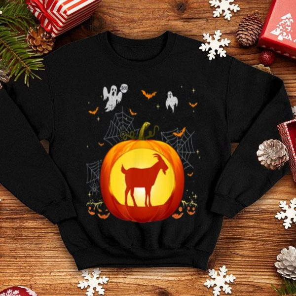 Awesome Goat Halloween Pumpkin Costume Cute Outfit Gift shirt